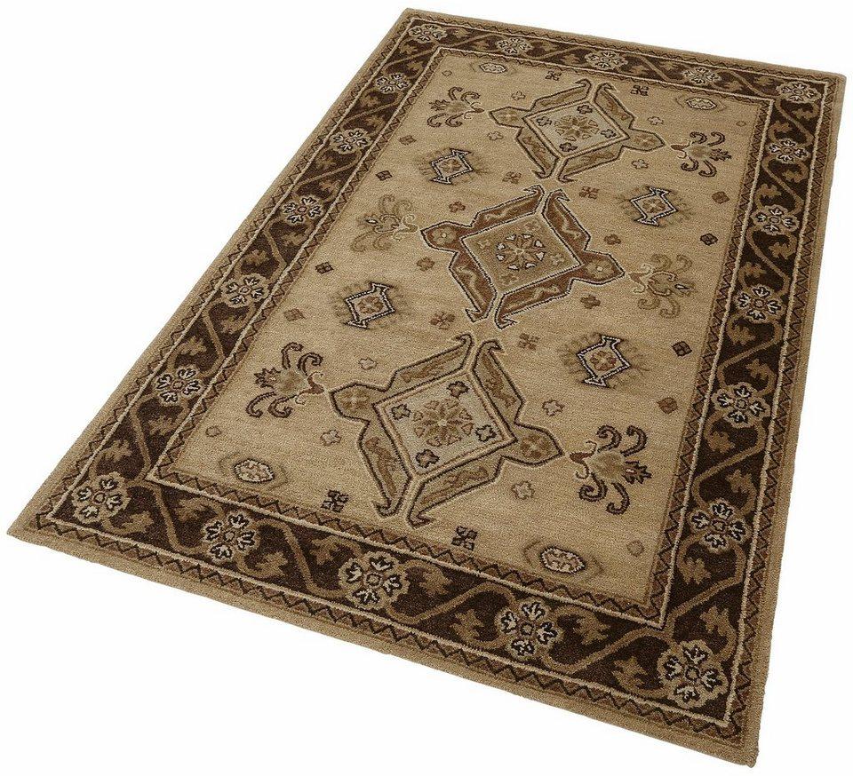 Orient-Teppich, Theko, »Royal Kazak«, 4 kg/m², handgetuftet, reine Schurwolle in camel