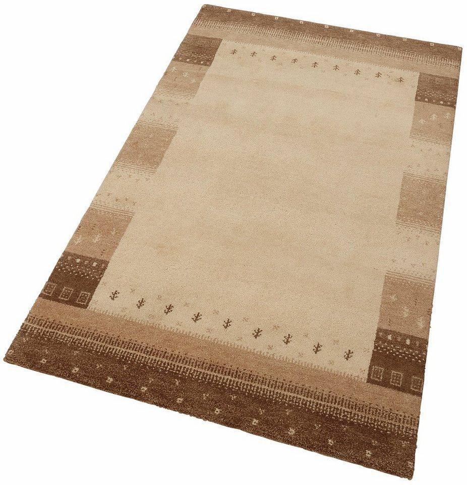 Orient-Teppich, Parwis, »Asti Gabbeh«, 53 500 Knoten/m², 4 kg/m², handgeknüpft, reine Schurwolle in camel