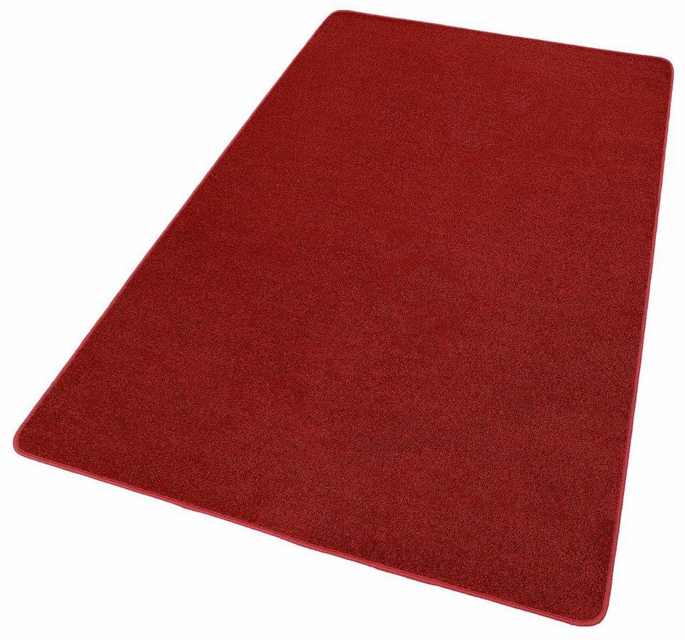 Teppich, Hanse Home, »Shashi«, einfarbig, Kurzflor, getuftet in Rot