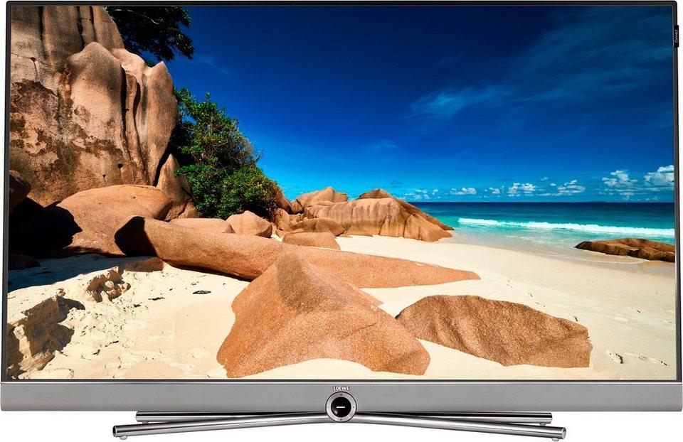 Loewe Connect 48, LED Fernseher, 122 cm (48 Zoll), 2160p (4K Ultra HD), Smart-TV in silberfarben/schwarz