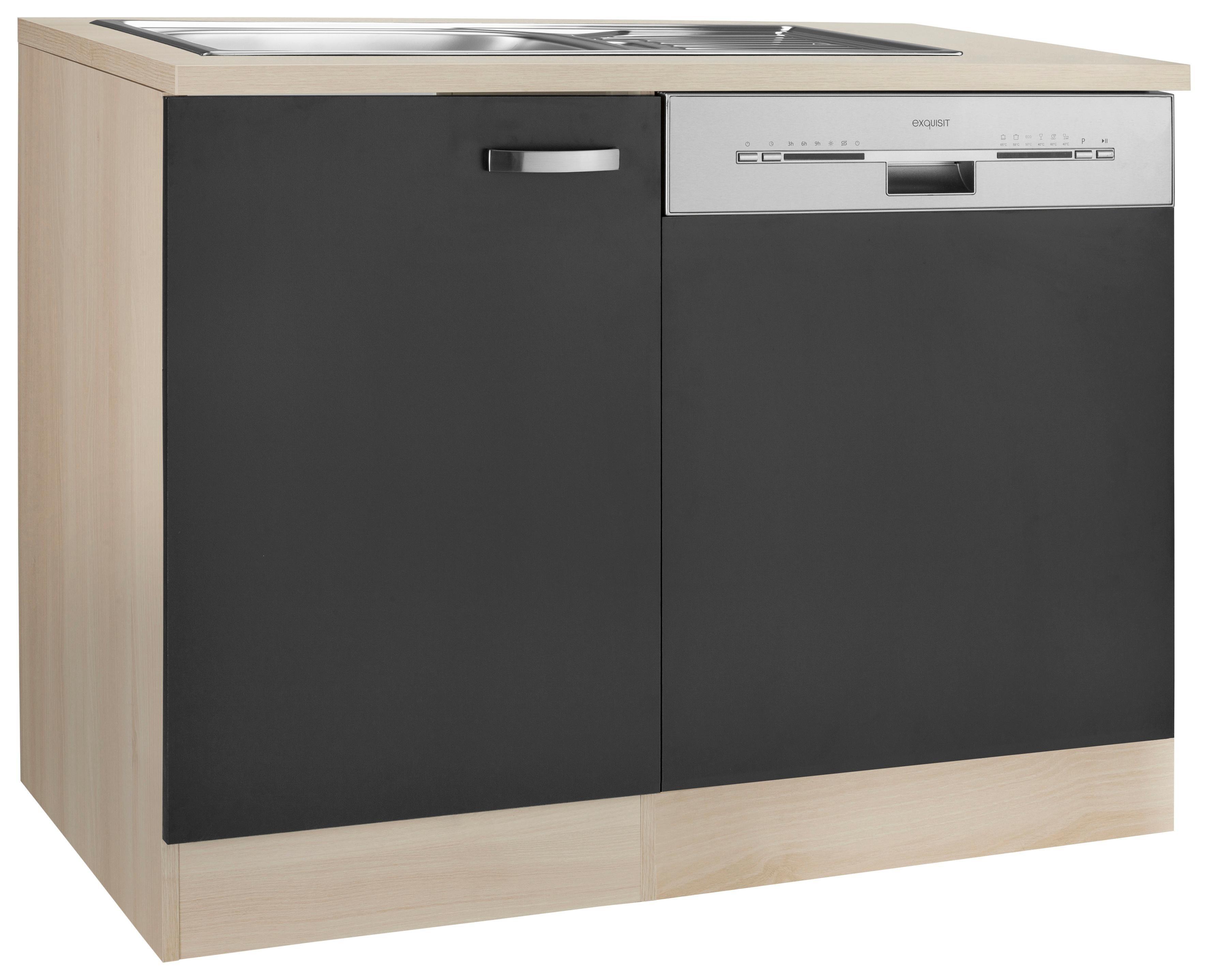 Spülenschrank »Faro«, OPTIFIT, mit Tür/Sockel für Geschirrspüler | Küche und Esszimmer > Küchenschränke > Spülenschränke | Weiss - Rot - Weiß | Edelstahl - Melamin | OPTIFIT