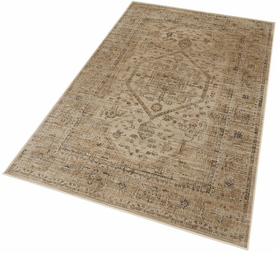 Orient-Teppich, Dekowe, »Anyang«, Melange-Effekt, gewebt in beige