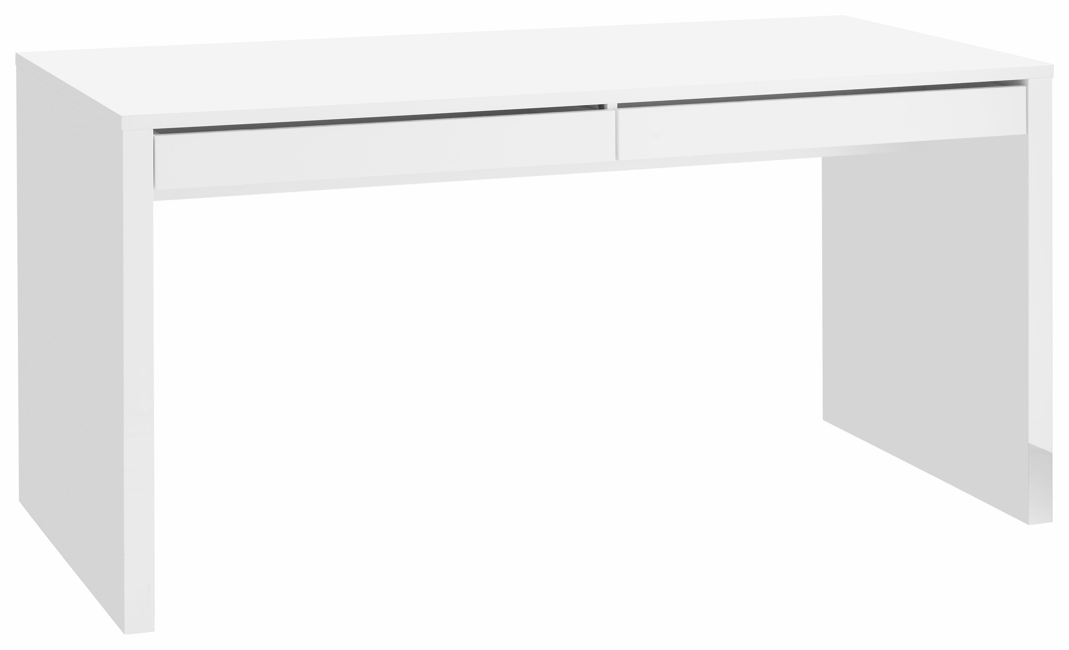 Schreibtisch, HMW, »Cary« | Büro > Bürotische > Schreibtische | Weiß - Hochglanz | Hochglanz - Melamin | HMW