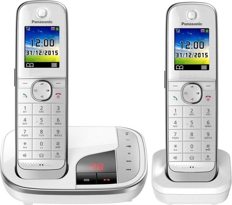 Panasonic KX-TGJ322 DUO Schnurloses DECT Telefon-Set mit AB in weiß