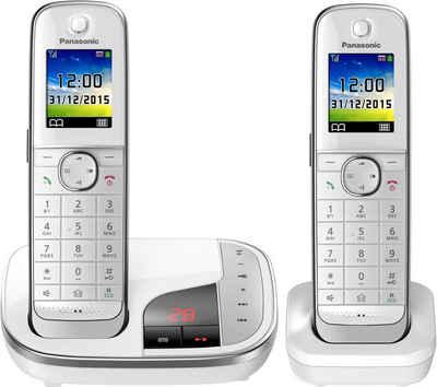 Panasonic »KX-TGJ322« Schnurloses DECT-Telefon (Mobilteile: 2, mit Anrufbeantworter, Weckfunktion, Freisprechen)