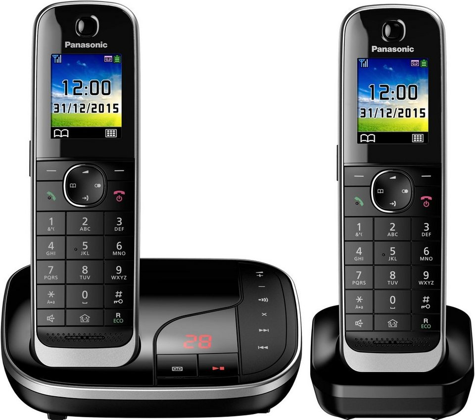 panasonic kx tgj322 duo schnurloses dect telefon. Black Bedroom Furniture Sets. Home Design Ideas
