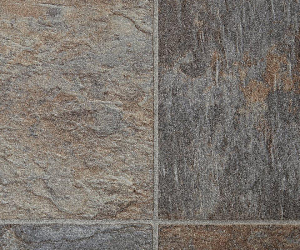 PVC-Boden »Active«, Fliese braun-grau in braun/grau