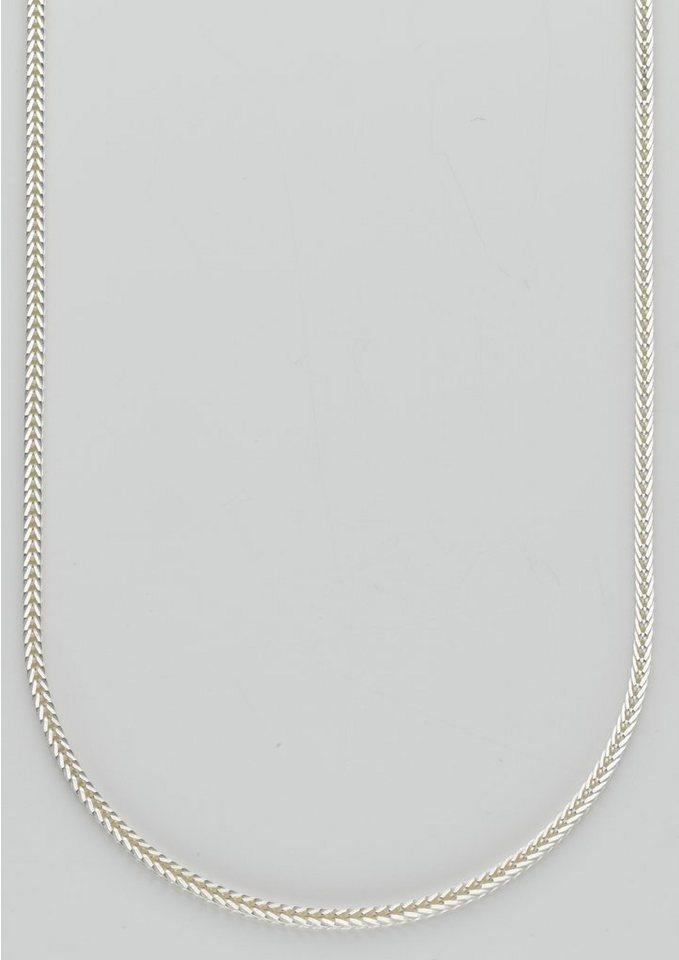 firetti Halsschmuck: Halskette / Collierkettchen in Fuchsschwanzkettengliederung in silberfarben