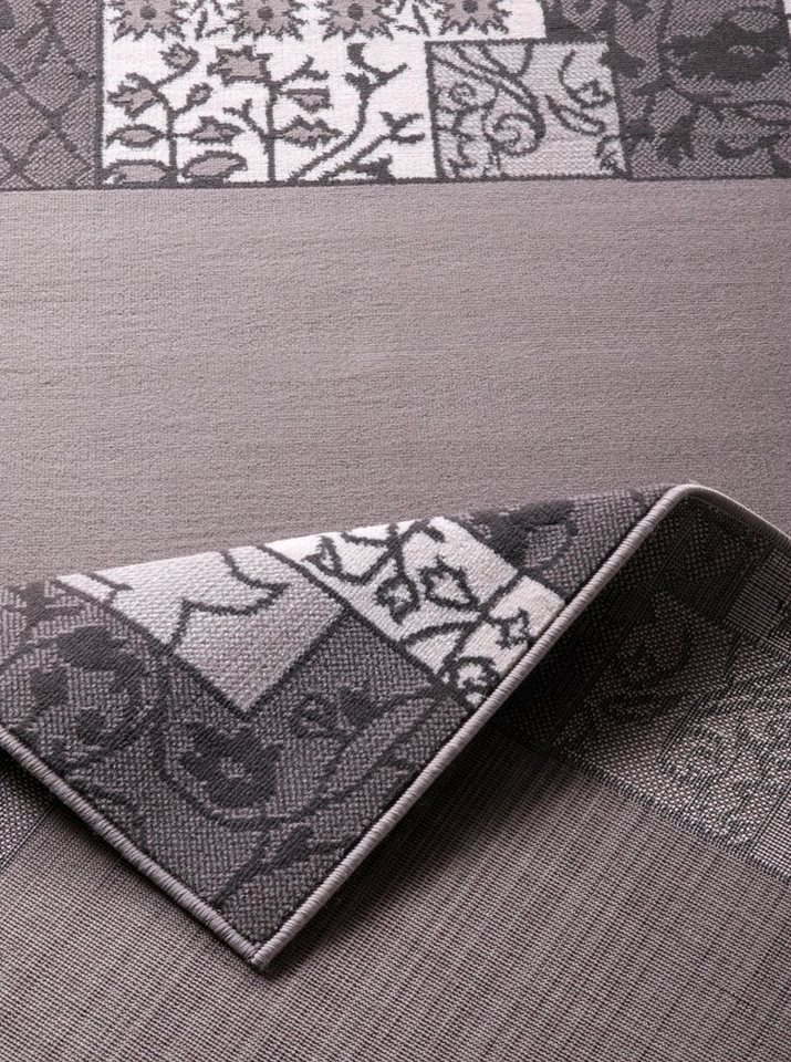 Teppich, Hanse Home, »Bordüre«, Patchwork-Design, Ornamente in Grau