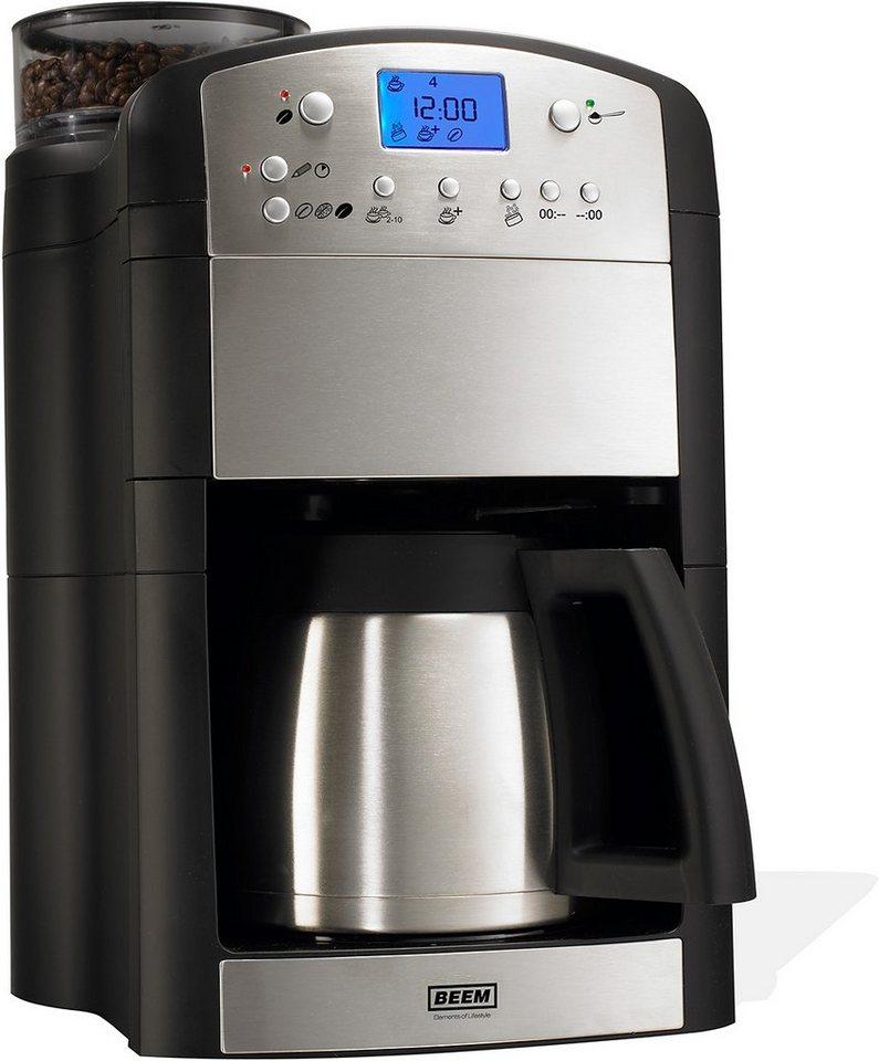 BEEM Kaffeemaschine 1.115.615 mit Thermokanne und integrierter Kaffeemühle in schwarz