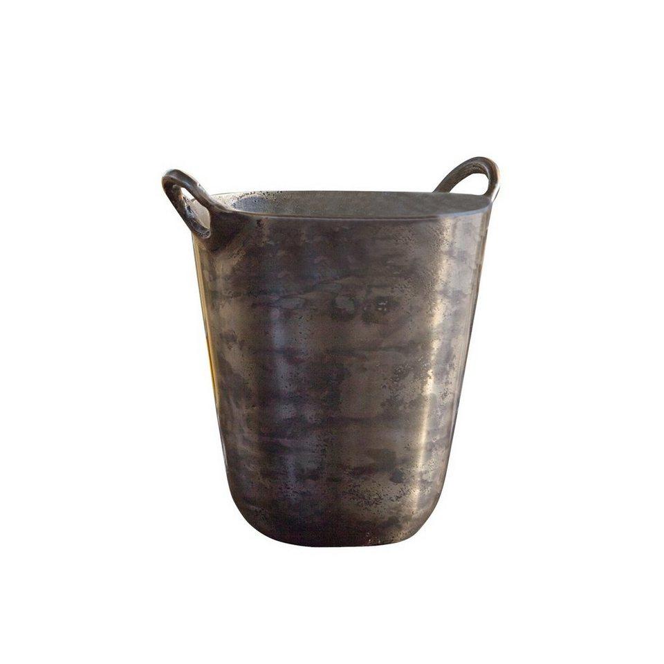 Loberon Sektkühler »Parcey« in antiksilber
