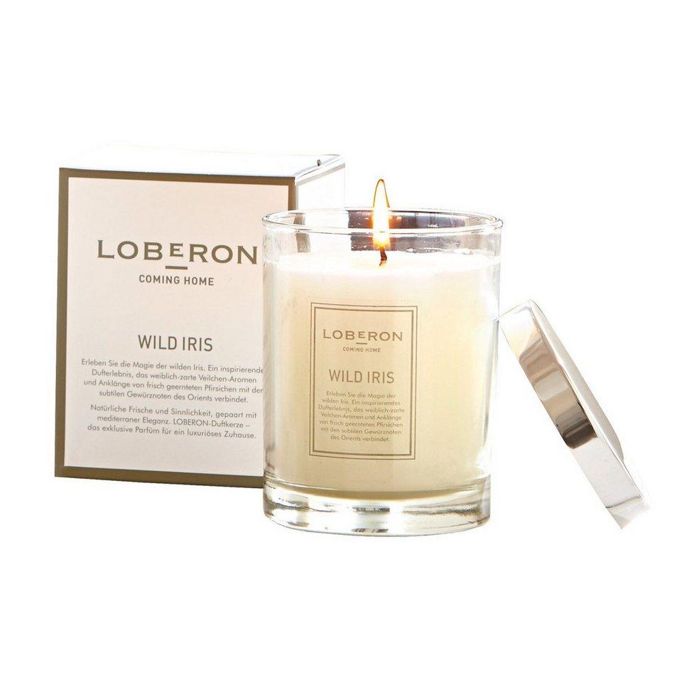 Loberon Duftkerze »Wild Iris« in creme