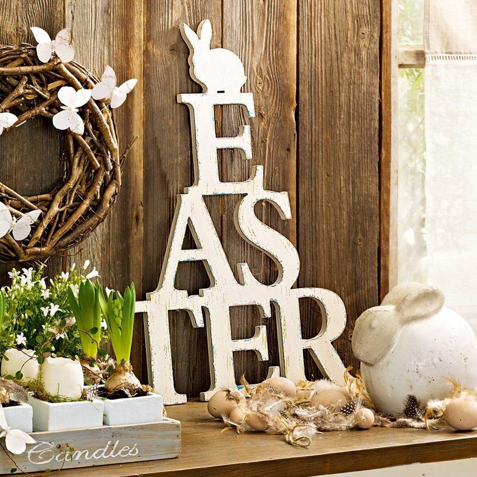 Loberon Wandornament »Easter« in antikweiß