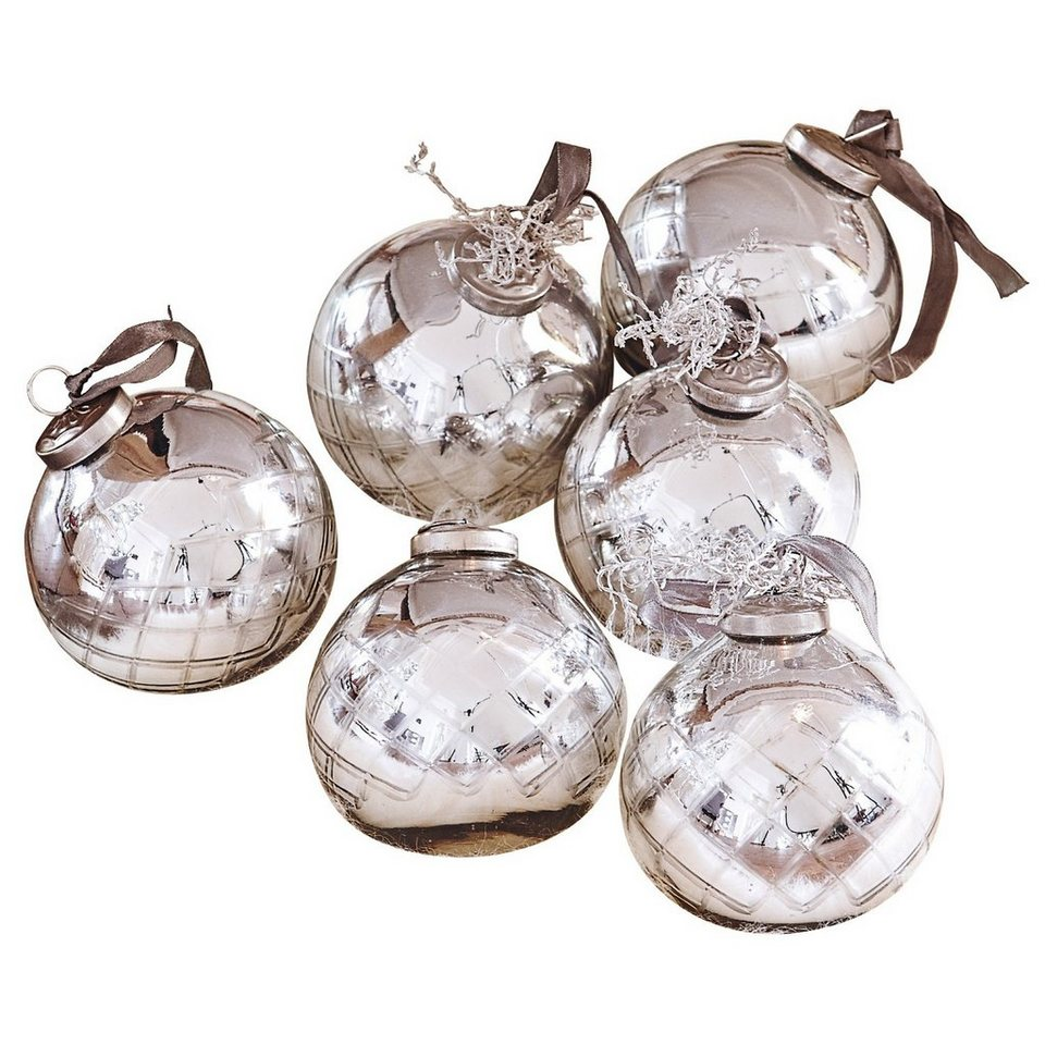 Loberon Weihnachtsschmuck 6er-Set »Gina« in silber