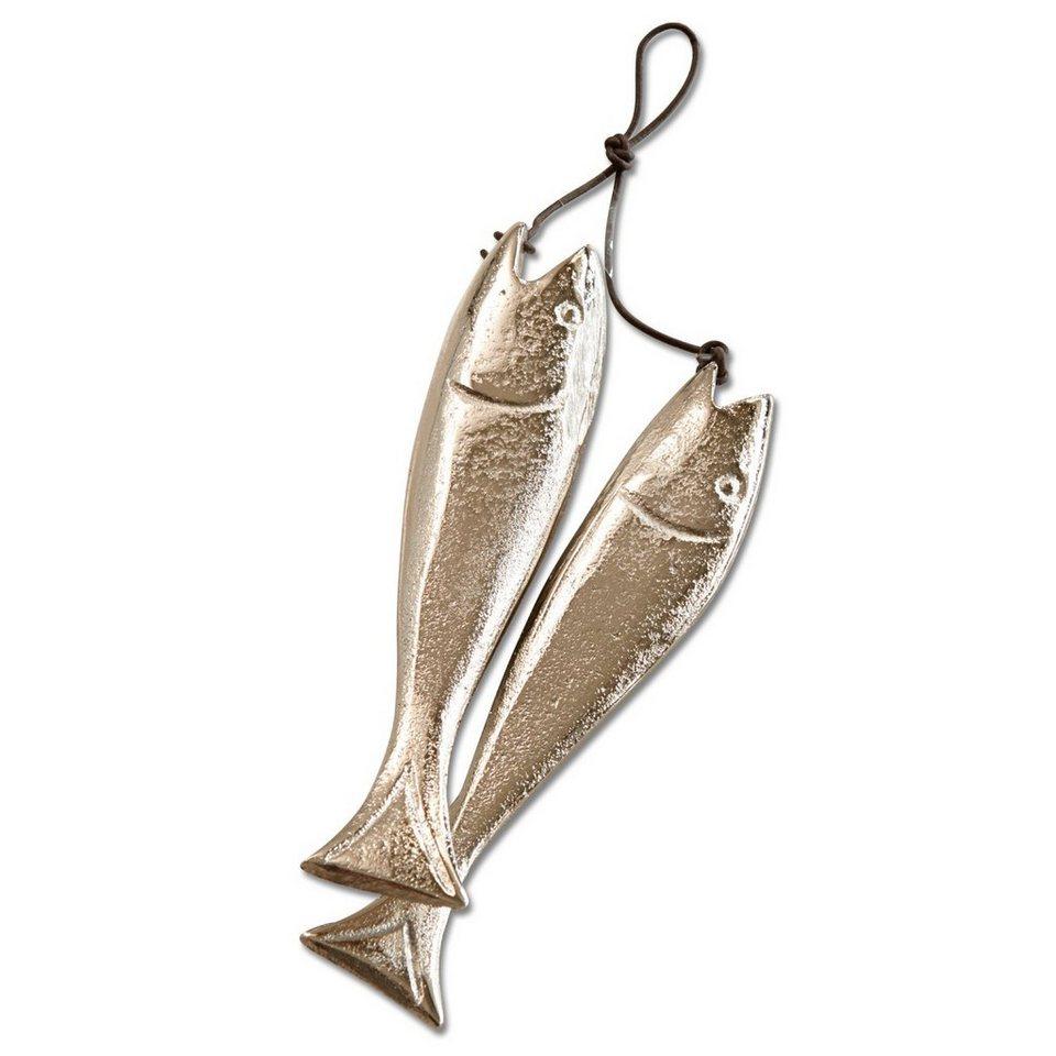 Loberon Deko-Fische 2er-Set »Sardine's« in silber