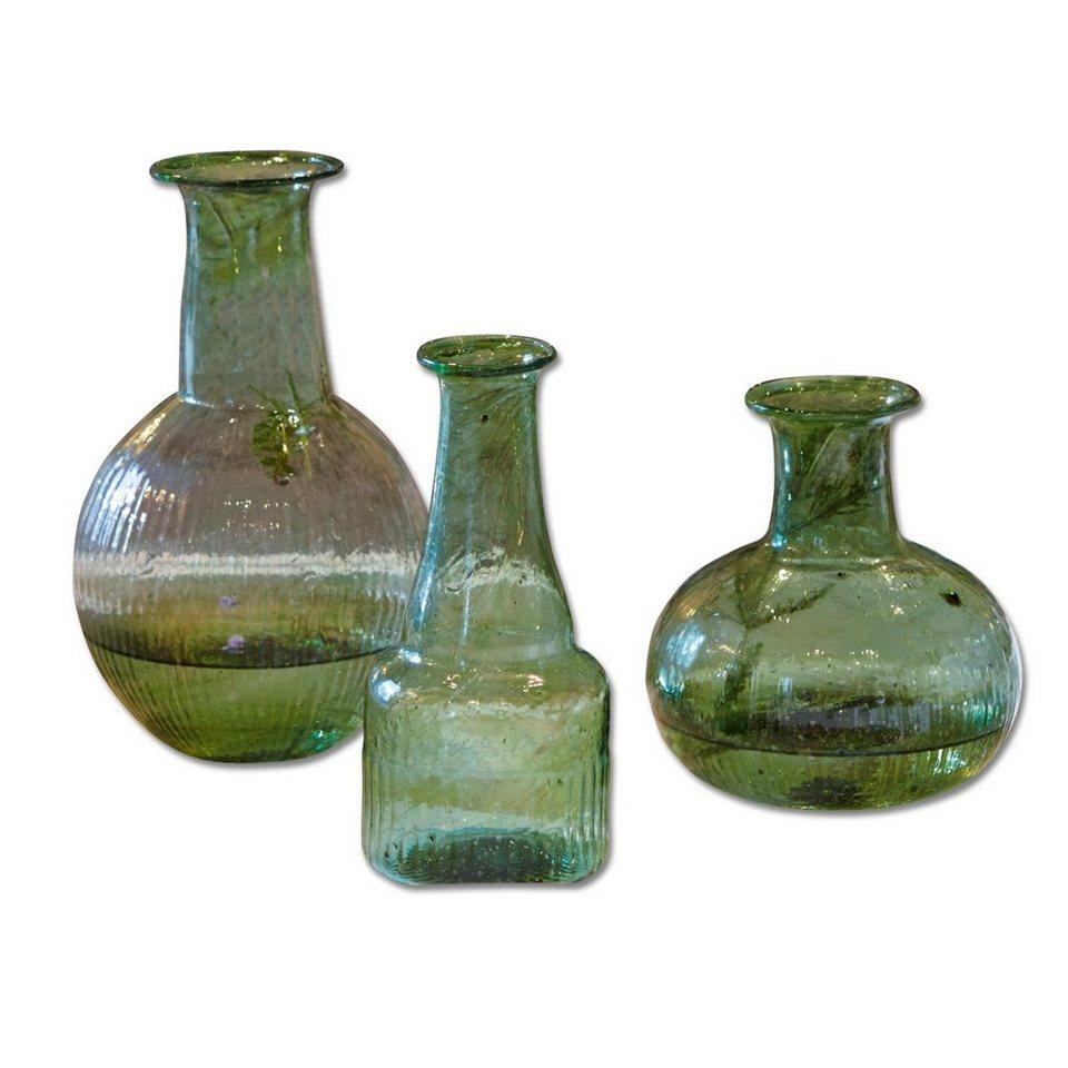 Loberon Vase 3er-Set »Piera« in grün