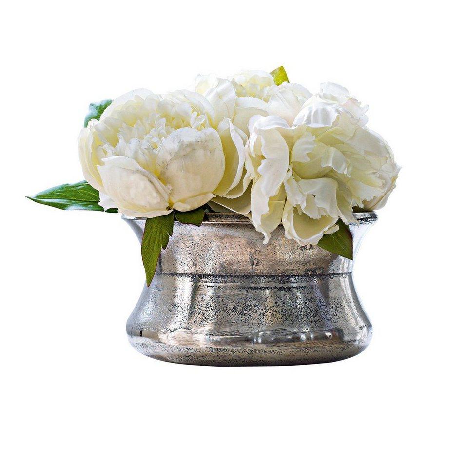 Loberon Vase »Fullerton« in antiksilber