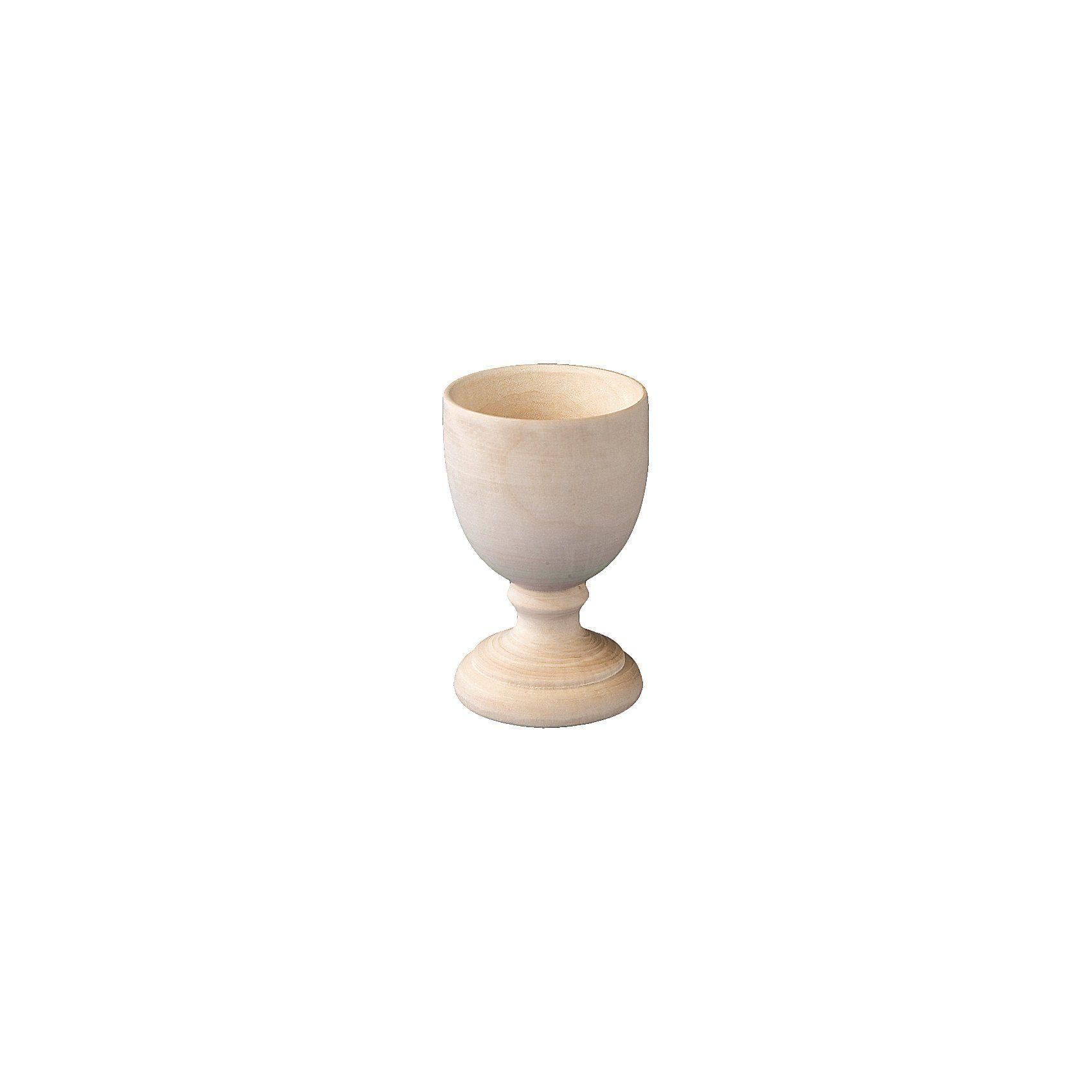 Playbox Holz-Eierbecher zum Gestalten, 10 Stück