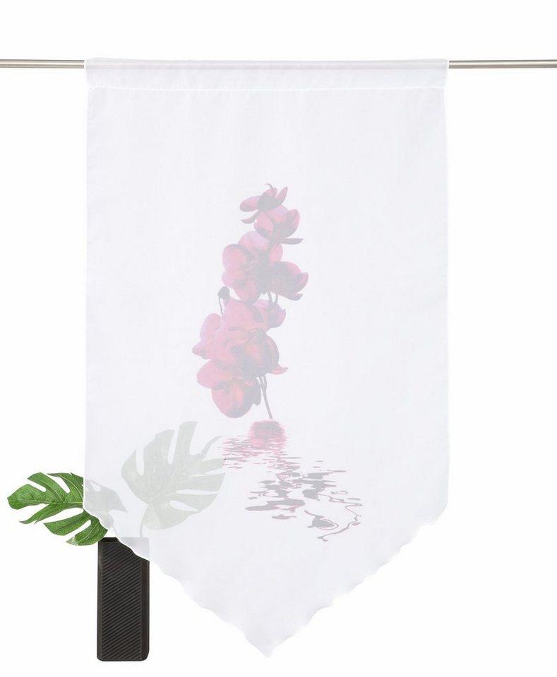 Fensterbehang, Home Wohnideen, »Orchidee« (1 Stück) in fuchsia