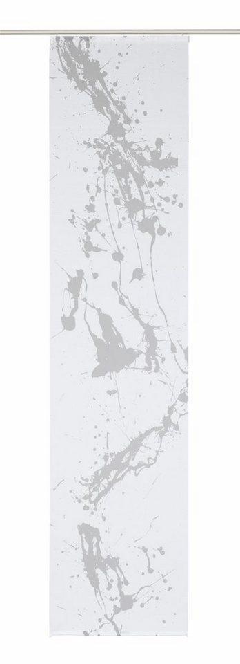 Schiebegardine, Home Wohnideen, »Compatri« (1 Stück ohne Zubehör) in weiß-grau