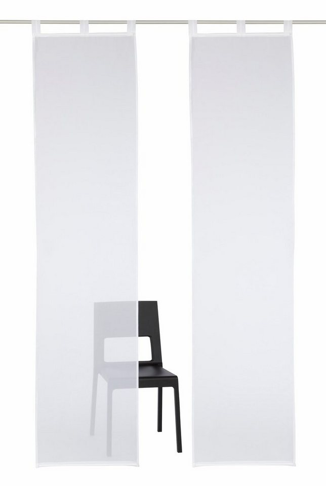 Schiebegardine, my home, »Xanten« (2 Stück mit Zubehör) in weiß