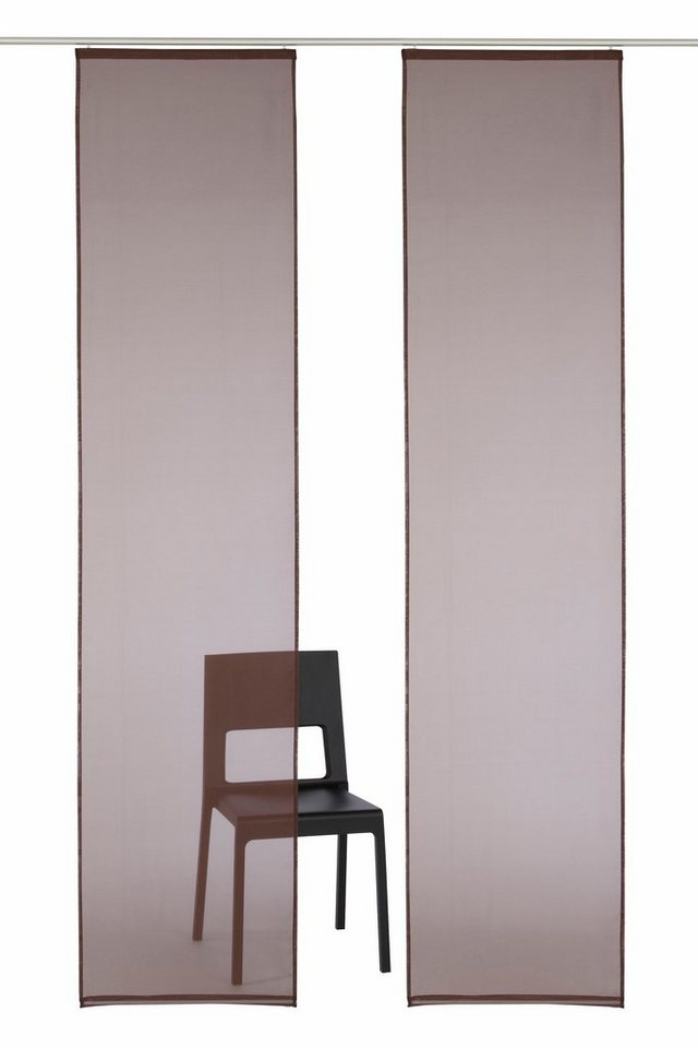 schiebegardine my home xanten mit klettband 2 st ck. Black Bedroom Furniture Sets. Home Design Ideas