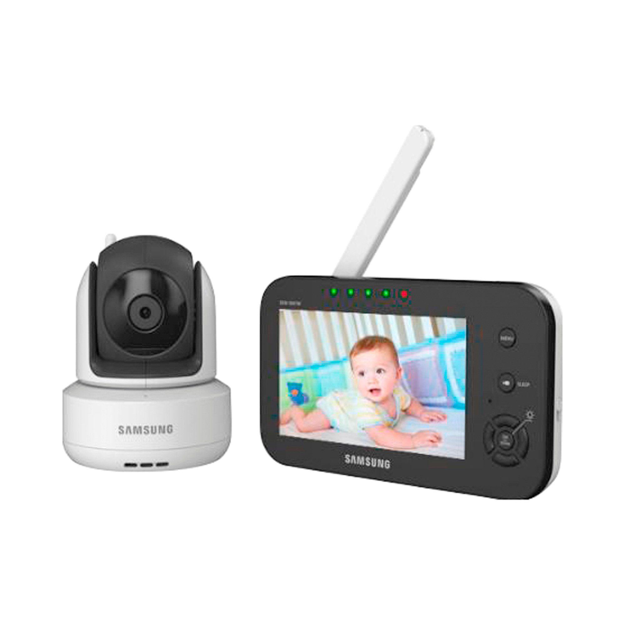 Samsung Babyphone mit Kamera + Schwenk- und Nachtsicht SEW-3041W, 300 m