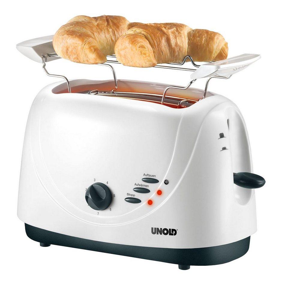 UNOLD® Toaster White Line 8040, für 2 Scheiben, 800 Watt in weiß