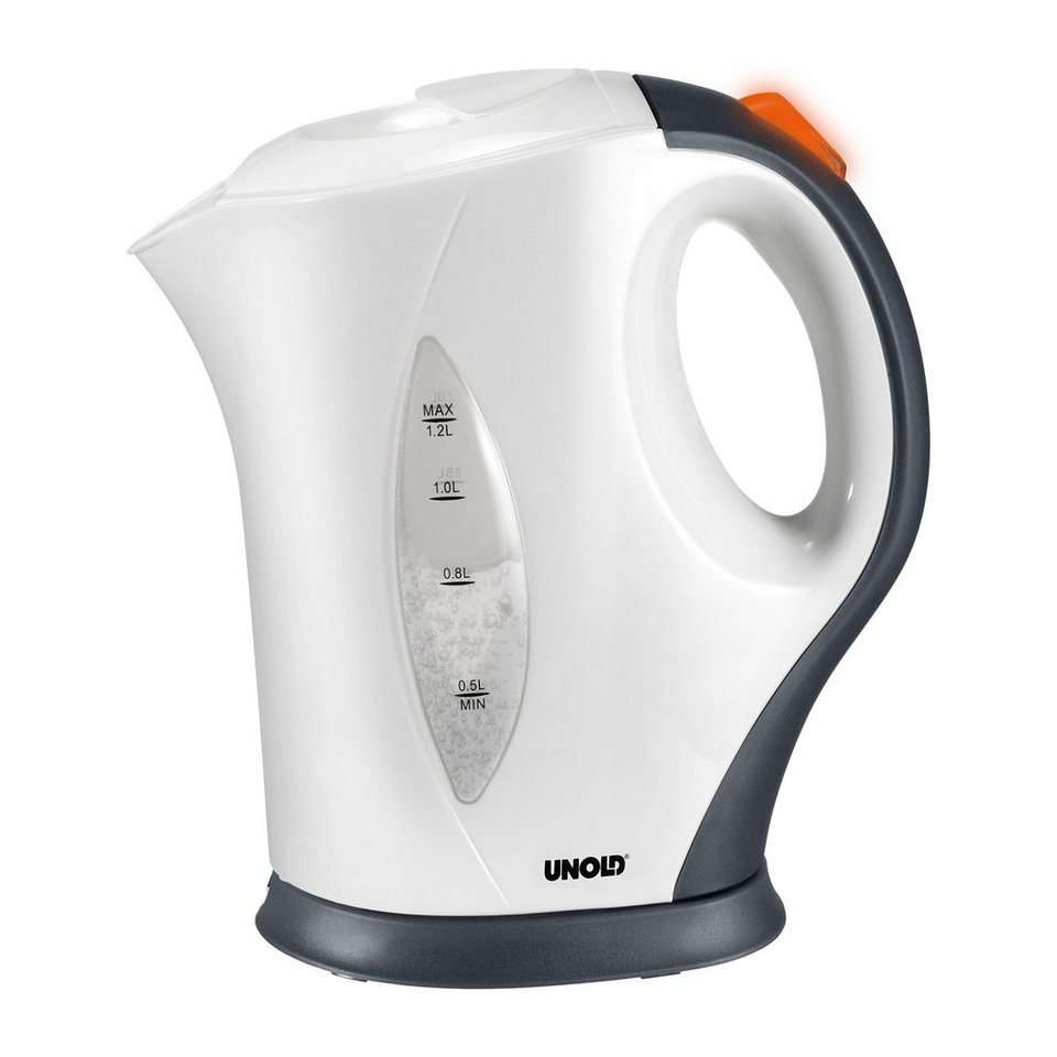 UNOLD® Wasserkocher White Line 18531, 1,2 Liter, 1200 Watt in weiß