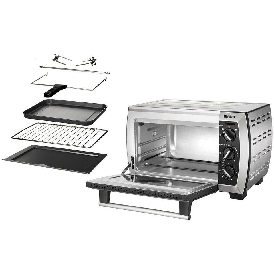 unold minibackofen 68817 umluft ober unterhitze grill 1650 w mit grill und umluft online. Black Bedroom Furniture Sets. Home Design Ideas