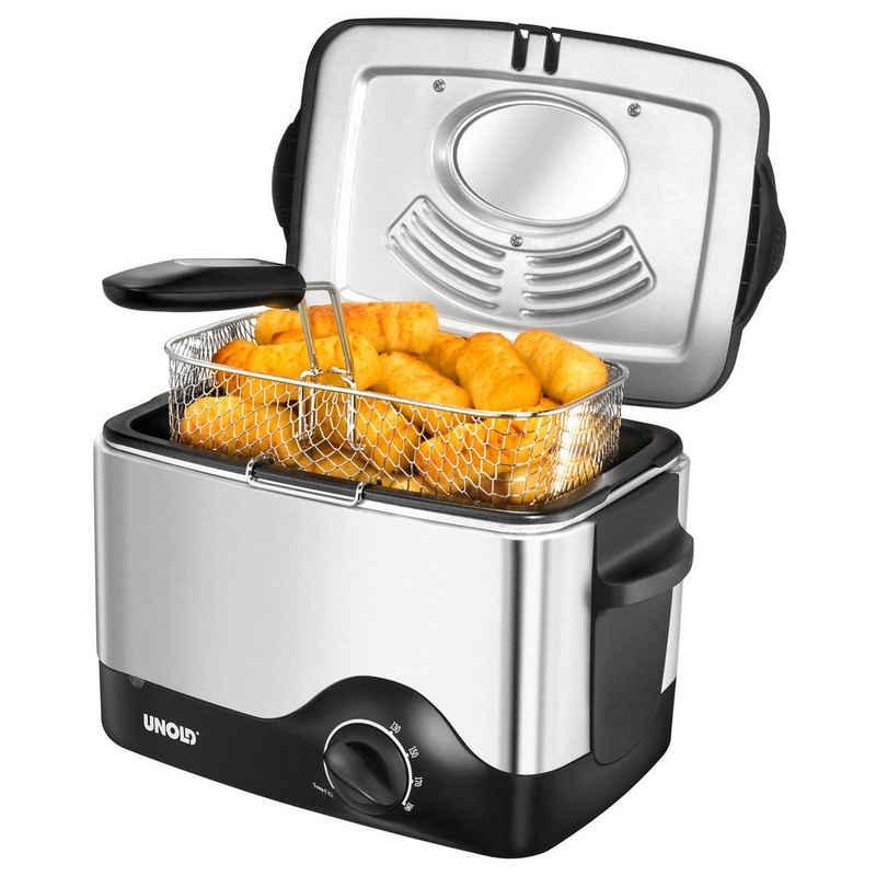 Unold Fritteuse Kompakt 58615, 1200 W, Fassungsvermögen z. B. 0,5 kg Pommes