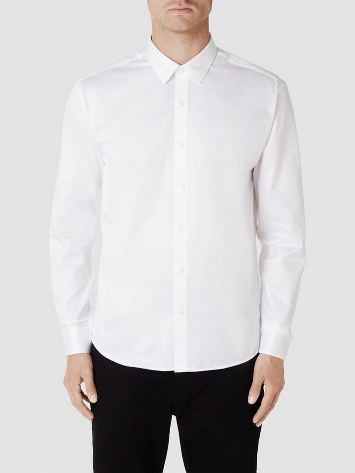 Selected Slim-Fit- Businesshemd in White
