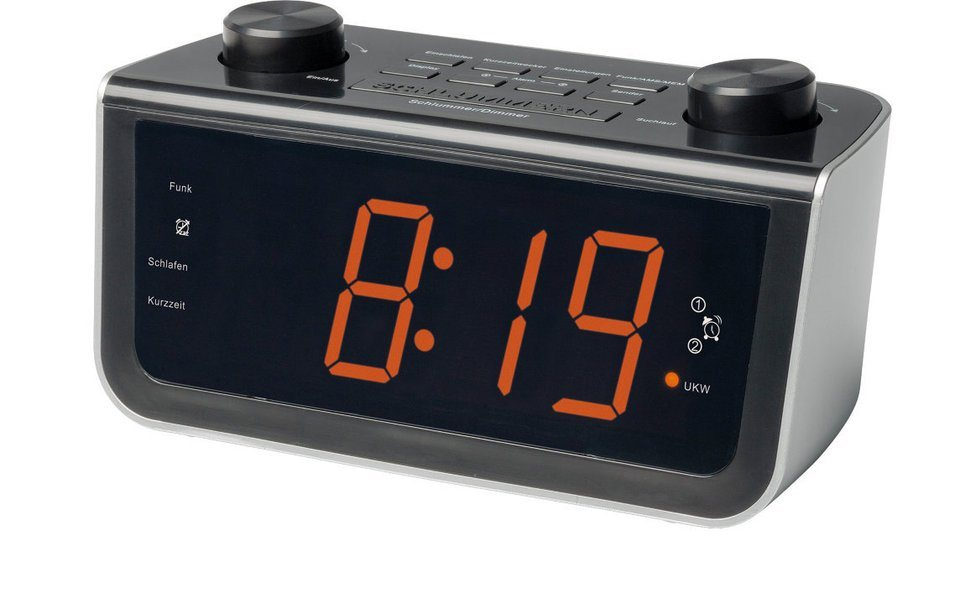 MEDION® Funkgesteuertes Uhrenradio »LIFE® P66000 (MD 84463)« in schwarz