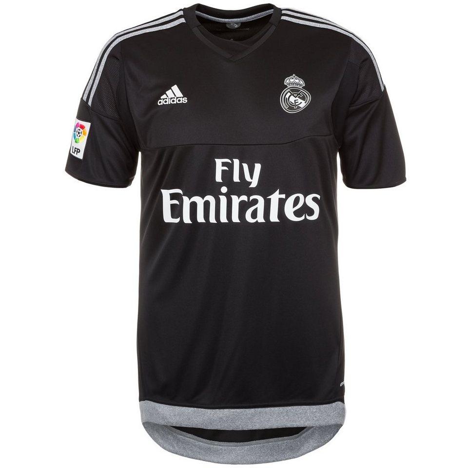 adidas Performance Real Madrid Torwarttrikot Home 2015/2016 Herren in schwarz / grau
