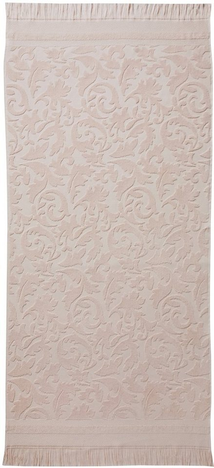 Badetuch, Seahorse, »Grace«, mit Damastmustern in rosé
