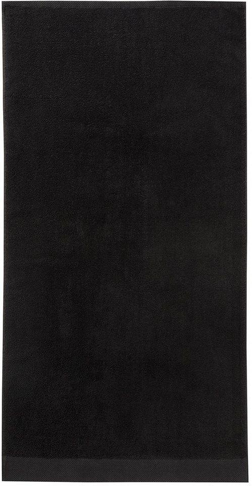 Handtücher, Seahorse, »Pure«, mit Strukturbordüre in schwarz