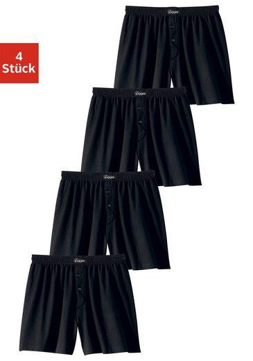 le jogger® Weiter Boxer (4 Stück), aus angenehm weicher Baumwoll-Qualität