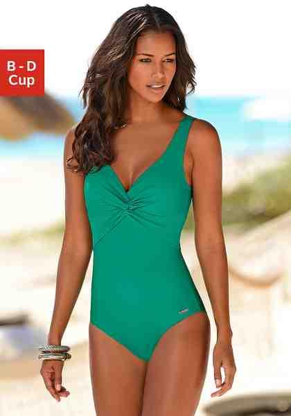 LASCANA Badeanzug mit Knoten-Optik am Cup