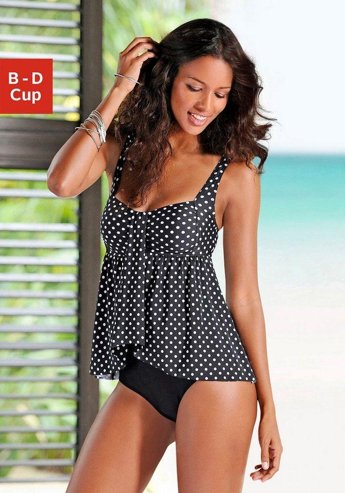 sehr bequem neuer Stil & Luxus modisches und attraktives Paket LASCANA Badeanzug, mit gerafftem Oberteil kaufen | OTTO