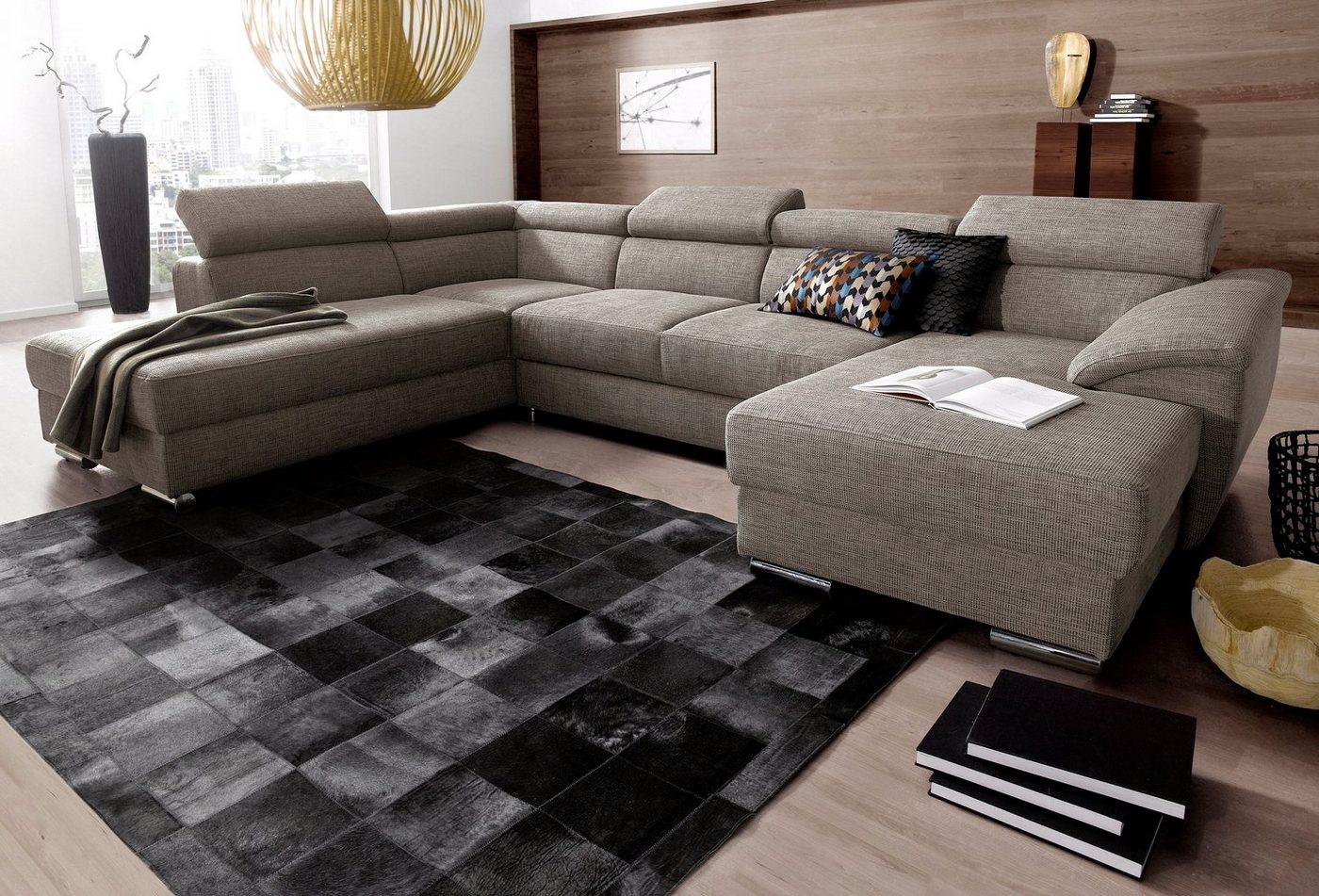 wohnlandschaft mit bettfunktion und bettkasten preisvergleiche erfahrungsberichte und kauf. Black Bedroom Furniture Sets. Home Design Ideas