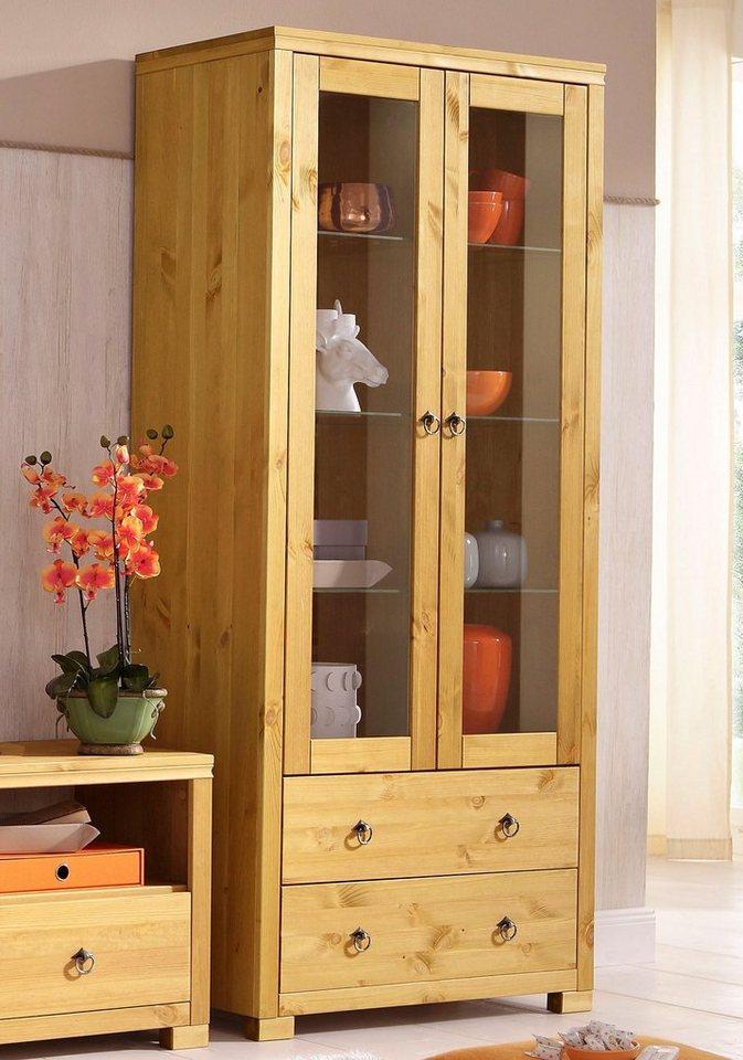 vitrine home affaire gotland h he 178 cm mit. Black Bedroom Furniture Sets. Home Design Ideas