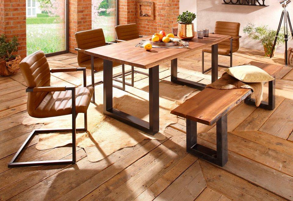 Premium collection by Home affaire, Sitzbank »Queens« akazie natur in Akazie
