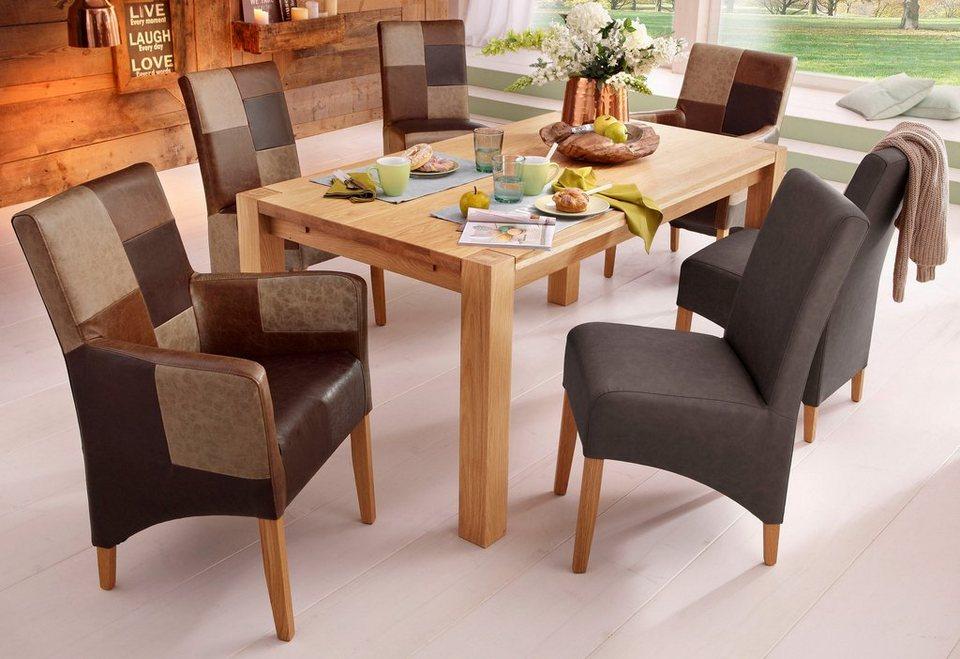 Home affaire Stühle in 2er Set, ohne Armlehnen in 4 Farben in dunkelbraun