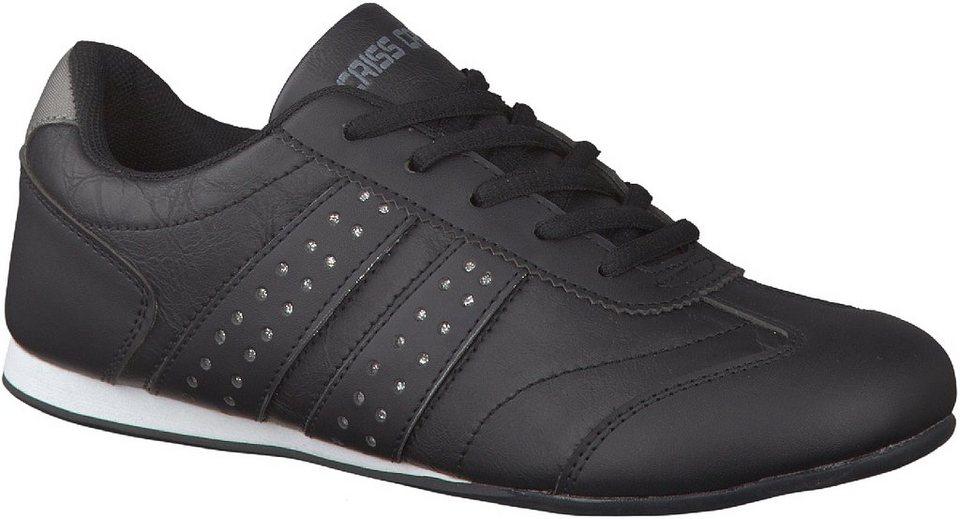 Criss Cross Sneaker in schwarz / kombiniert