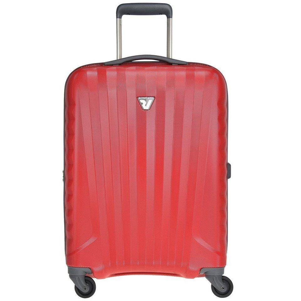 Roncato UNO ZIP 4-Rollen Kabinentrolley 55 cm in rosso