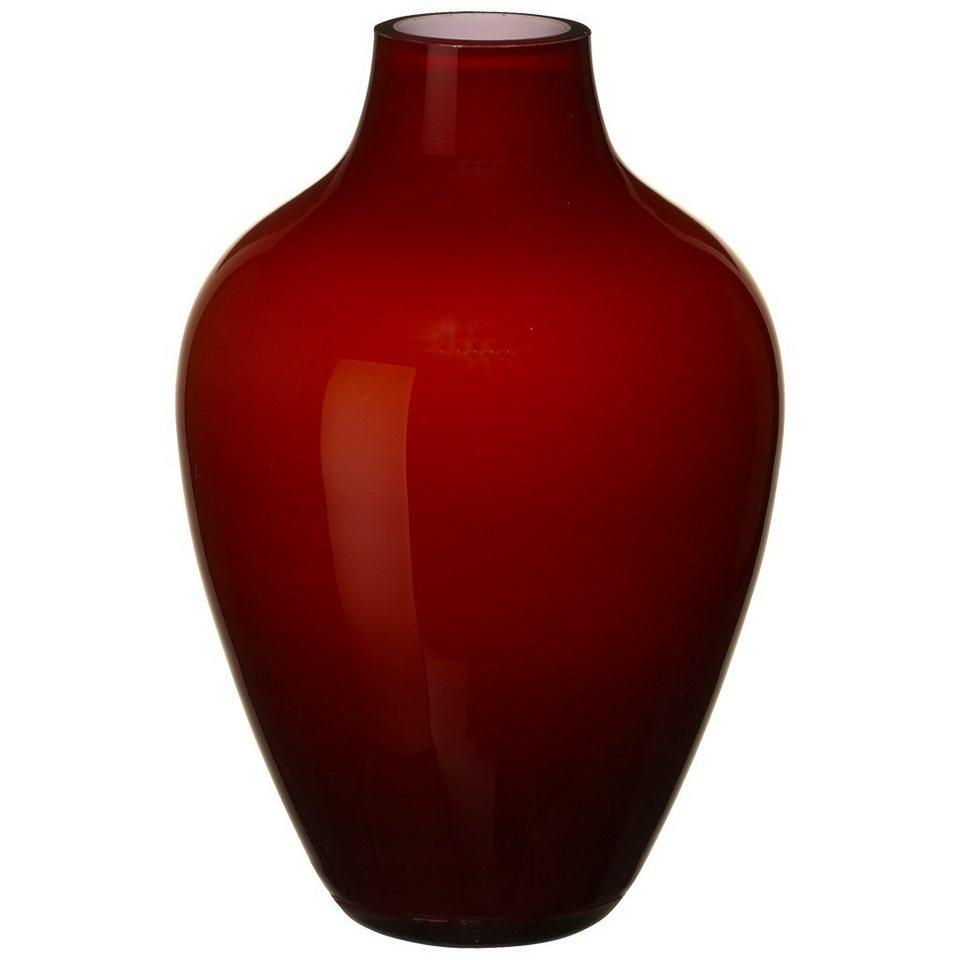 VILLEROY & BOCH Vase deep cherry 160mm »Tiko Mini« in Dekoriert