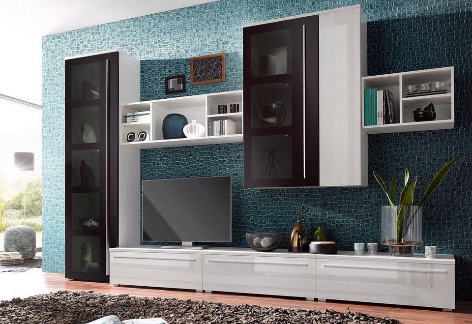 wohnwand 7 tlg online kaufen otto. Black Bedroom Furniture Sets. Home Design Ideas