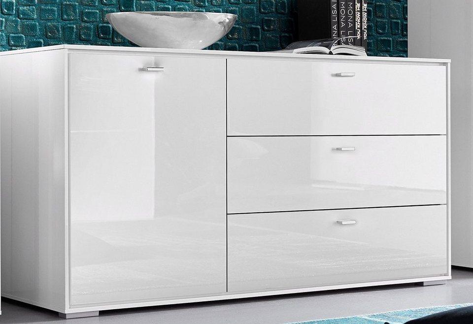 HMW Sideboard »Villino«, Breite 140 cm in weiß
