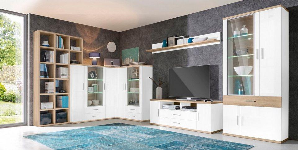 Wohnwand 7 tlg online kaufen otto for Eck wohnwand modern