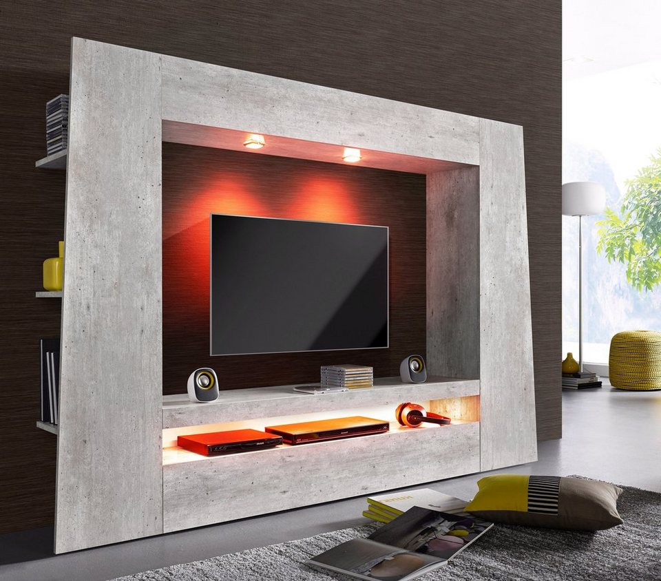 tecnos mediawand breite 190 cm online kaufen otto. Black Bedroom Furniture Sets. Home Design Ideas